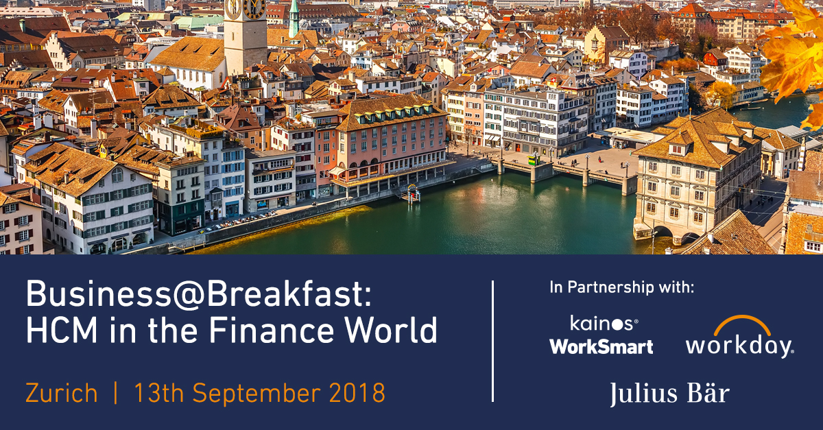BUSINESS@BREAKFAST: HCM IN THE FINANCE WORLD organized by Kainos WorkSmart