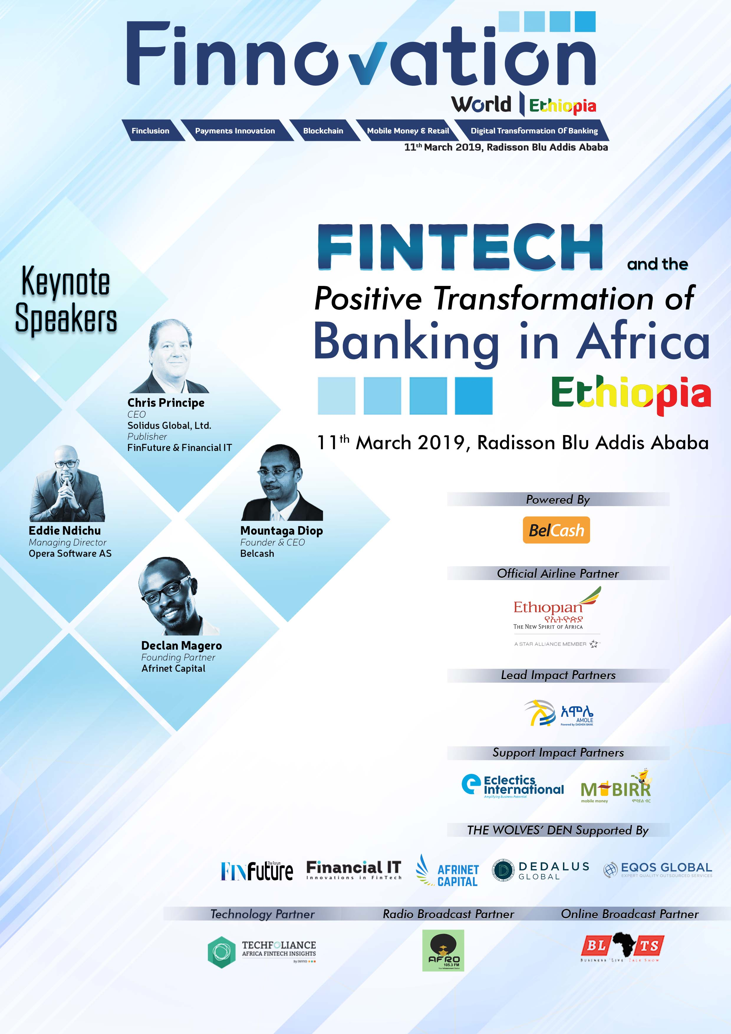 Article about FinTech and The Digital Banking Impact for Africa: Re-Imagining Banking & Financial Services at Finnovation Ethiopia 2019