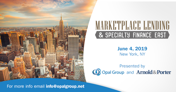 Marketplace Lending & Specialty Finance East organized by Opal Group