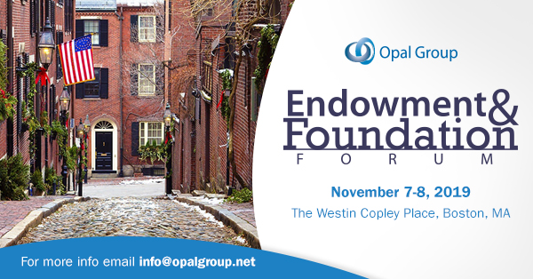 Endowment & Foundation Forum organized by Opal Group