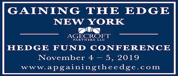 Gaining the Edge 2019 New York Hedge Fund Leadership Conference organized by Agecroft Partners LLC
