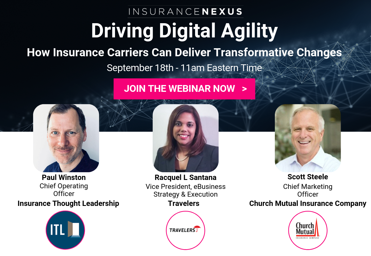 Article about Delivering Future Readiness for Insurance Carriers: Travelers and Church Mutual Join Exclusive Webinar