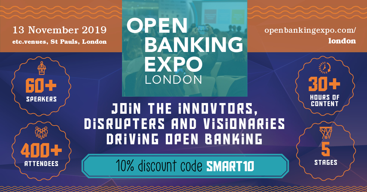 Open Banking Expo, London organized by Borough Bench Media