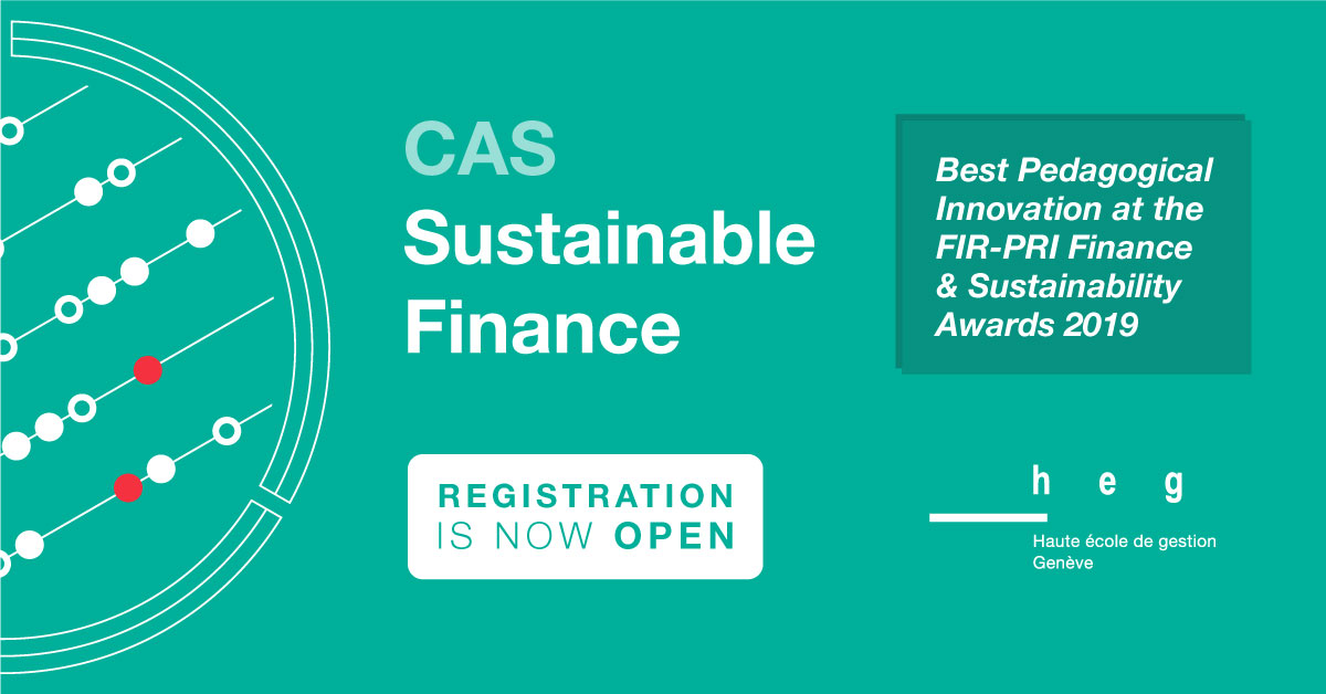 Article about CAS Sustainable Finance HEG Genève: Registration is open!