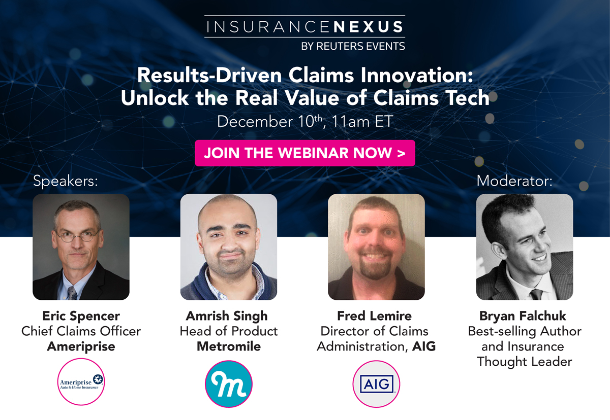 Article about Results-Driven Claims Innovation: Unlock the Real Value of Claims Tech with AIG, Ameriprise and Metromile