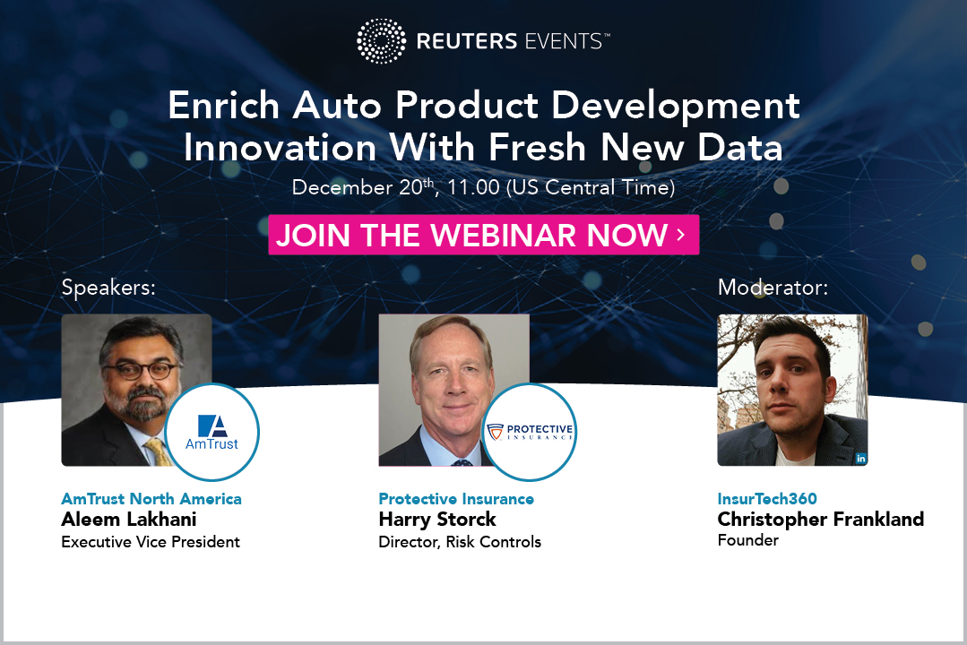 Article about Reuters Events announces exclusive webinar on Auto insurance product development