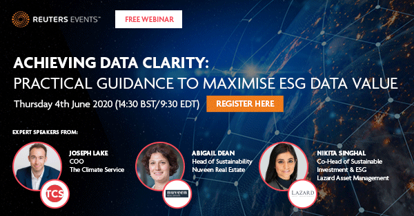 Webinar: Achieving ESG Data Clarity: Practical Guidance to Maximize ESG Data Value organized by Reuters Events