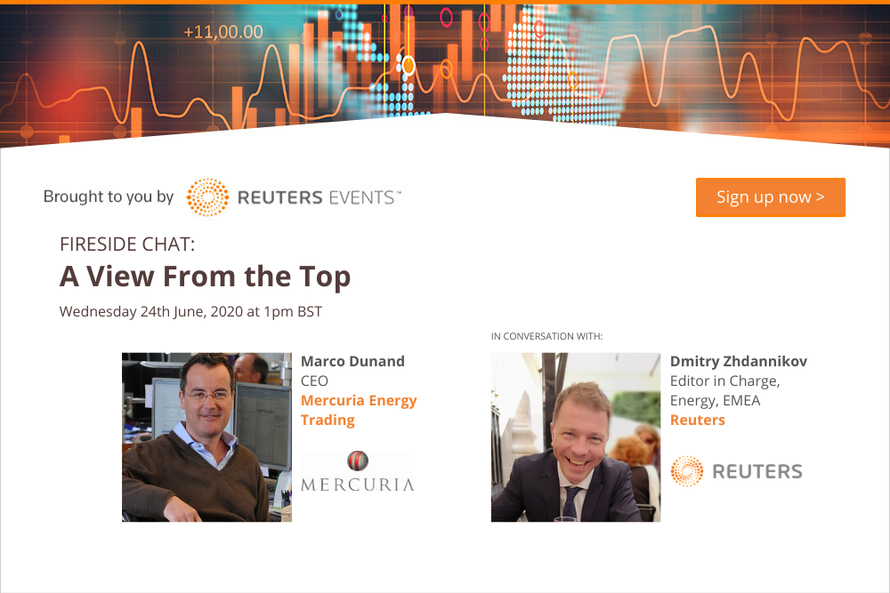 Article about Reuters Events Host Interview with Mercuria's CEO on the State of Commodity Trading