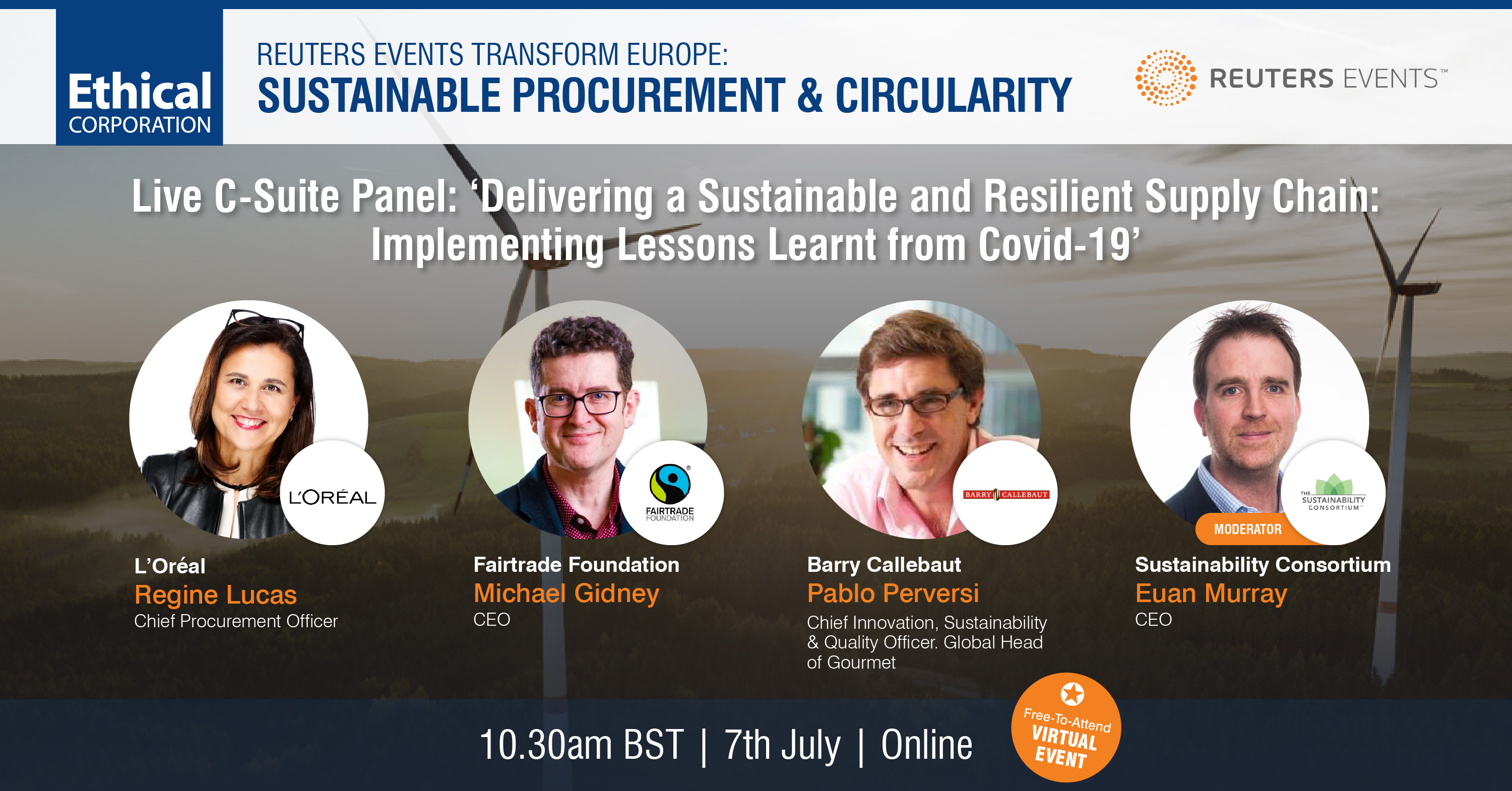 Article about Press Release: Leaders from UNFCCC, PepsiCo, Novo Nordisk, Fairtrade Foundation and B Lab Join us at Transform: Sustainable Procurement & Circularity this July