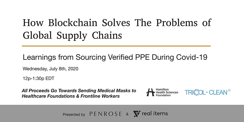 Digital Workshop: How Blockchain Solves The Problems of Global Supply Chains organized by Sean Stapley
