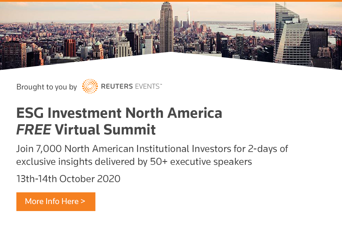 ESG Investment North America Virtual Summit organized by Reuters Events