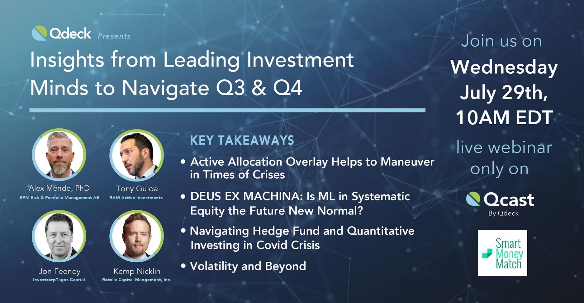 Rotella Qcast Webinar Topic Insights from Leading Investment Minds to Navigate Q3 and Q4 organized by Rotella Capital Management