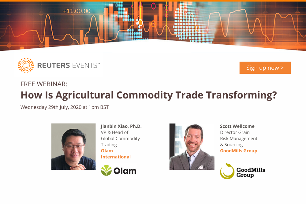 Article about Reuters Events Host Panel with Olam and GoodMills on Agricultural Commodity Trading