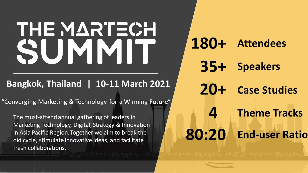 The MarTech Summit Bangkok organized by BEETc