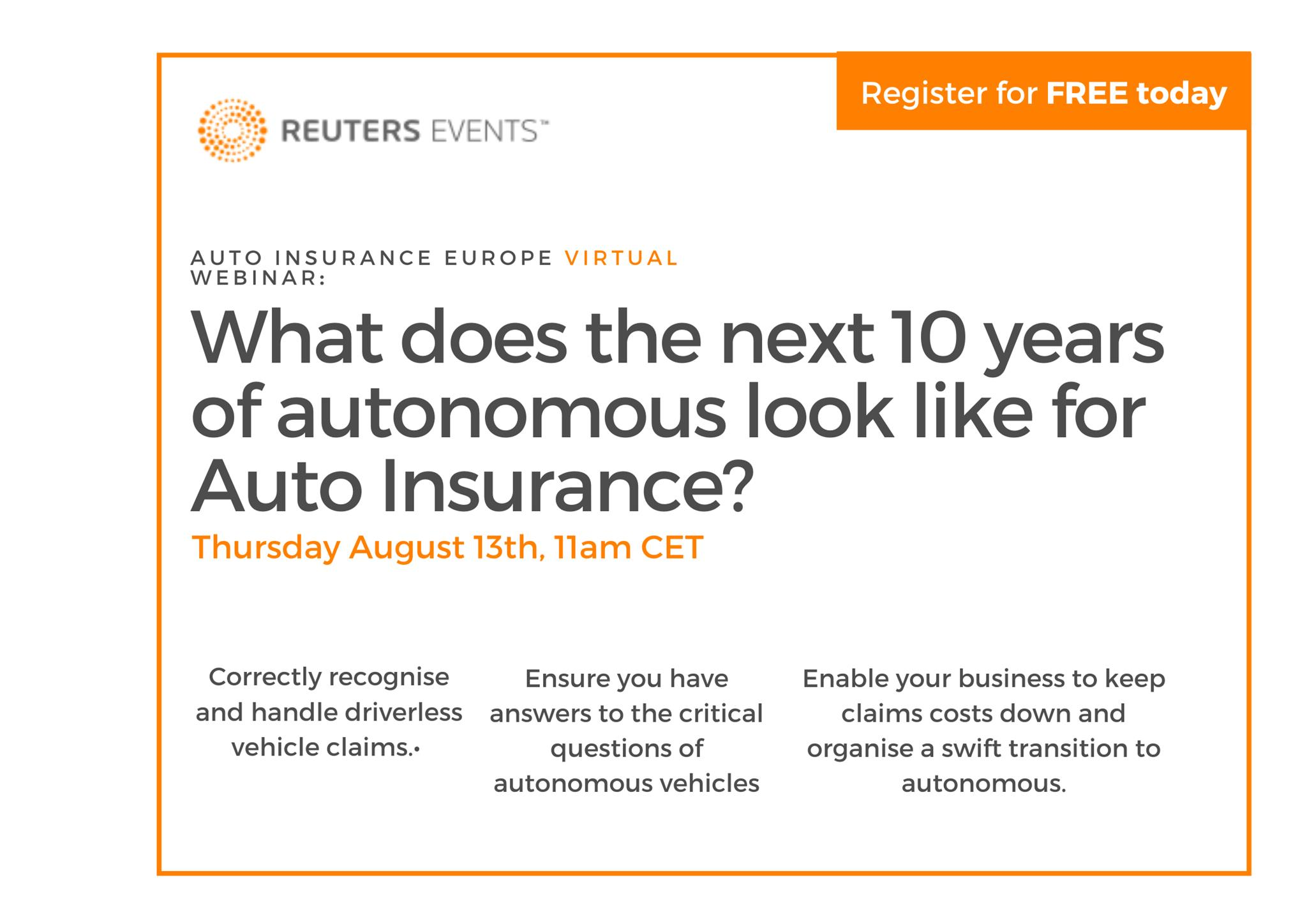 How do we plan for the next 10 years of autonomous vehicles? organized by Reuters Events