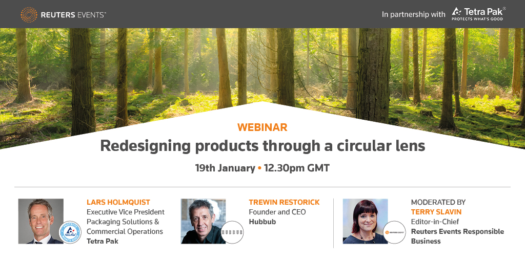 Article about Redesigning products through a Circular Lens - Free to Attend Webinar by Reuters Events