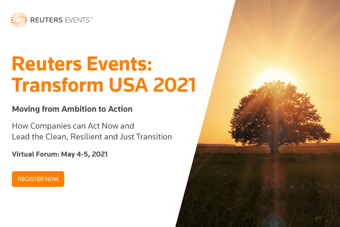 Article about Reuters Events: Transform USA 2021 - Moving from Ambition to Action