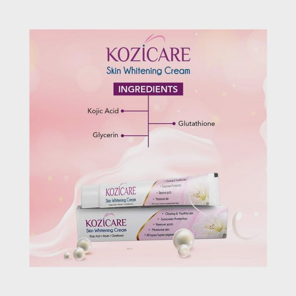Article about kozicare skin whitening cream ingredients & price