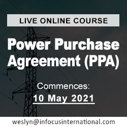 Power Purchase Agreement (Live Online Course) organized by Infocus International Group